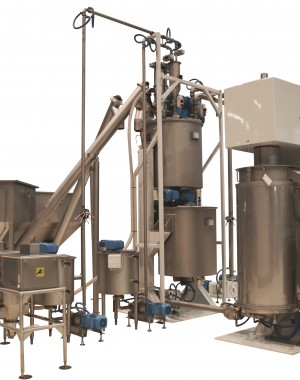 Vertical ball mills for chocolate refining