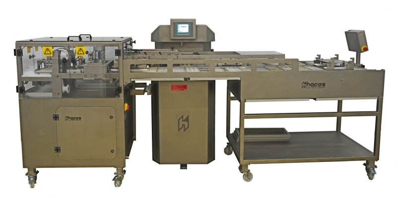Moulding line for pralines, tablets and cups