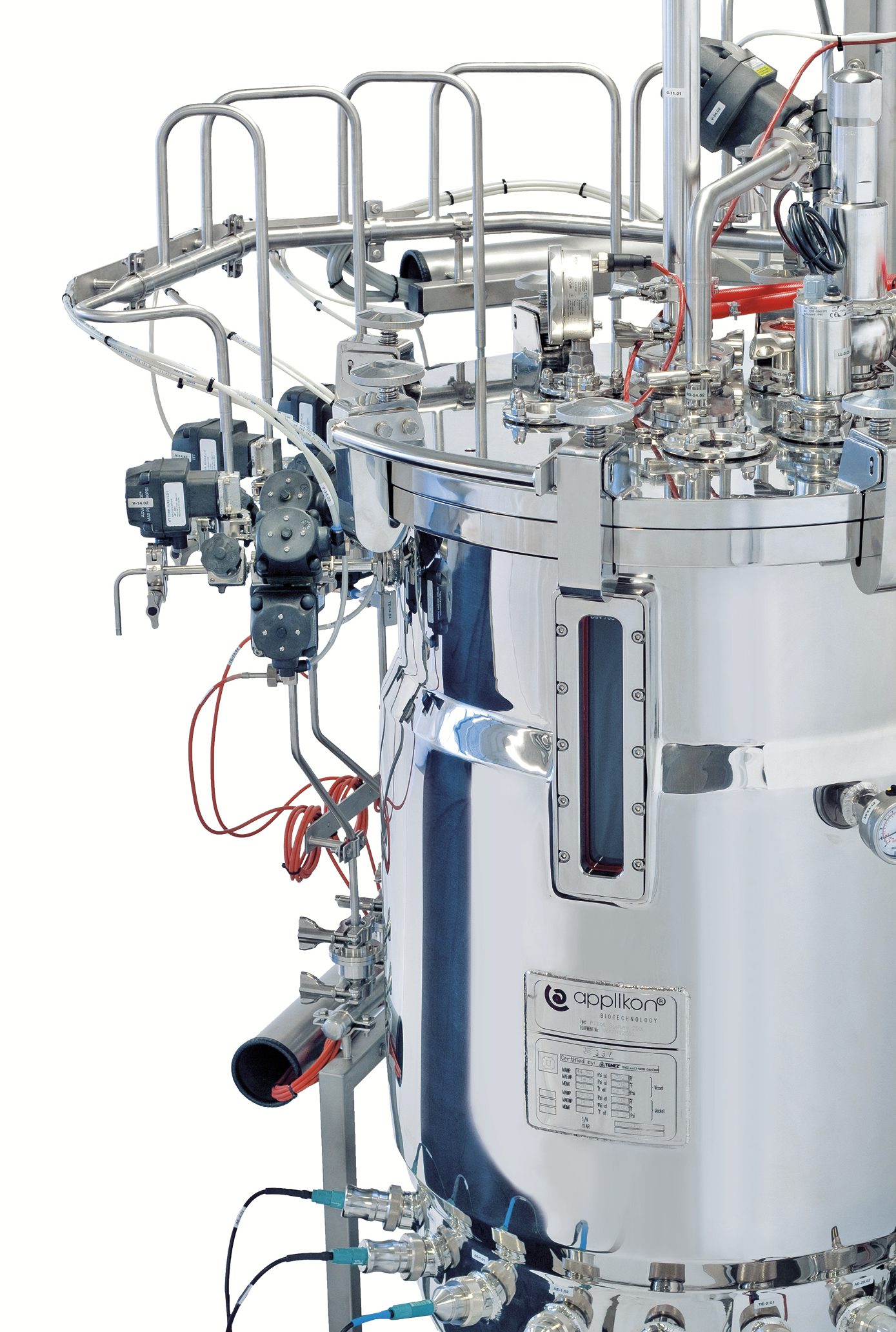 Autoclavable stainless steel bioreactor