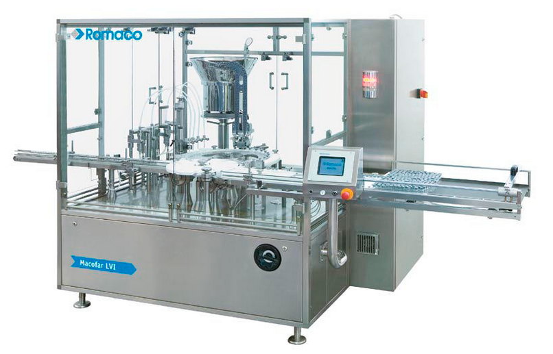 Monobloc small volume liquid filler
