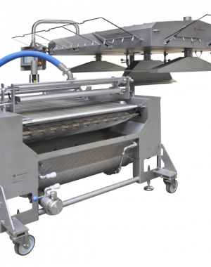 Hygienic chocolate coating machine