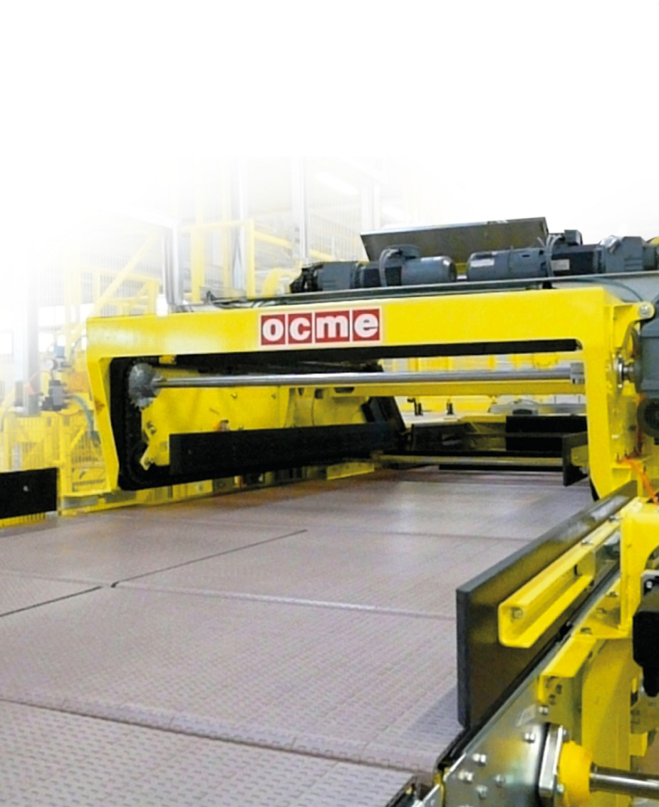 Automatic palletizer with in-line feed