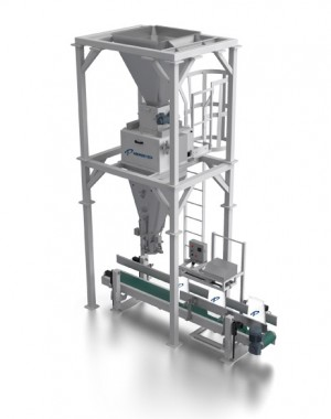 Manual bagger with net weigher