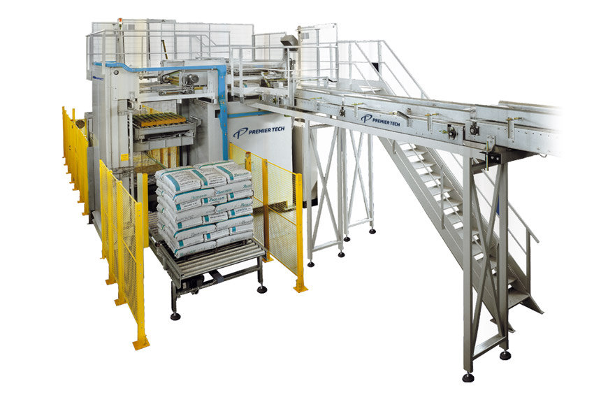 High-level layer palletizer