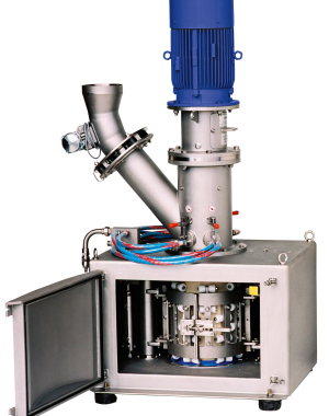 Continuous high impact mixer