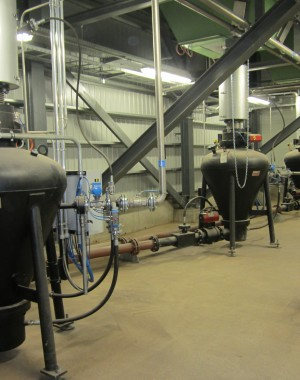 Pneumatic conveying for industrial biomass boilers