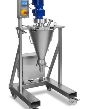 Laboratory conical screw mixer