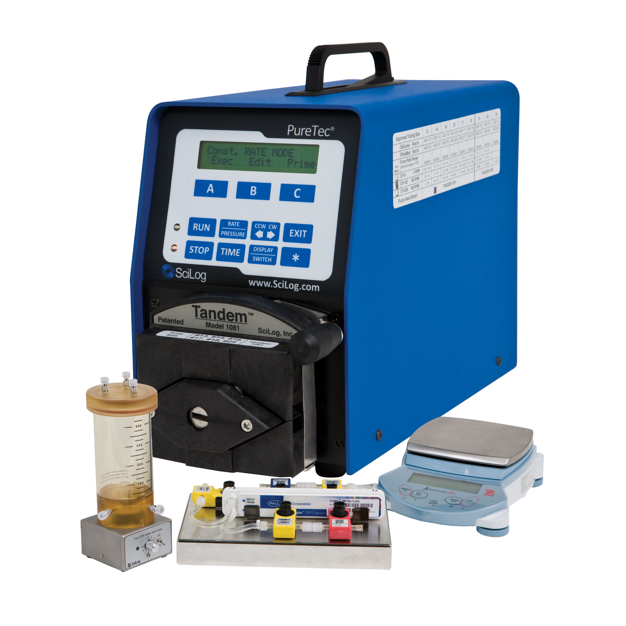 Lab scale tangential flow filtration system
