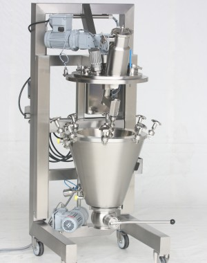 Laboratory conical screw vacuum dryer