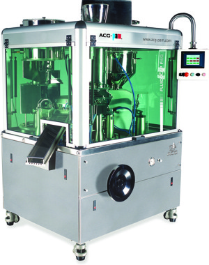 Automatic capsule filler for liquid solutions