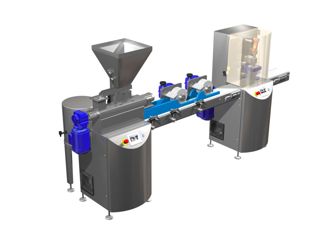Entry-level automatic cereal bar machine