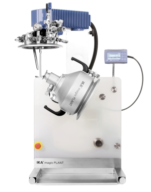 Laboratory dispersing machine for low-viscous masses