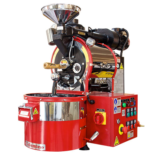 Gas heated mini coffee roaster