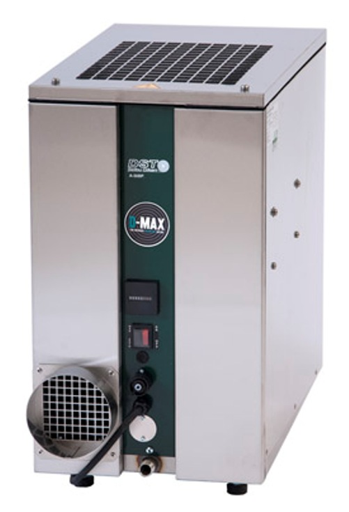 Sorption dehumidifier with air-chilled condenser