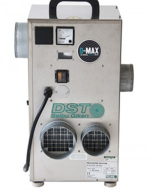 Sorption dehumidifier for overpressured rooms