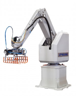 Palletizing robot arm