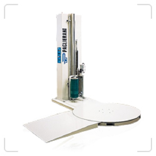 Semi-automatic stretch wrapping machine