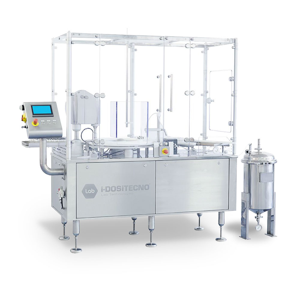 Table top sterile filling line for injectables