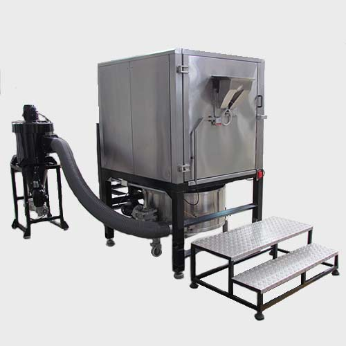 Cylindrical batch roaster for chocolate