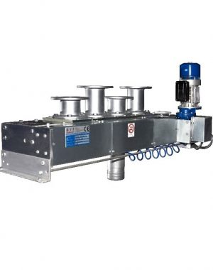 Multi-way diverter valve for pneumatic conveying