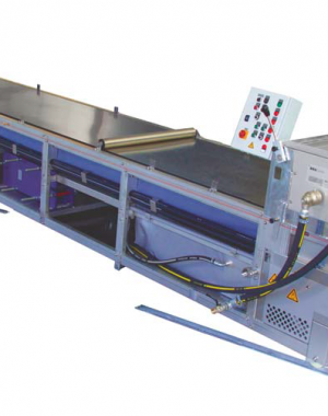 Steel belt cooler for hot melt extrusion