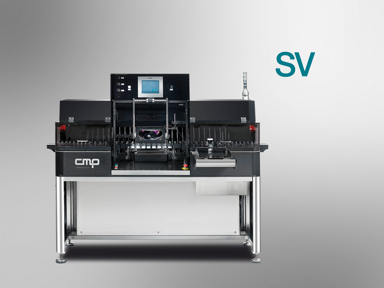 Semi-automatic inspection machine for ampoules, vials or cartridges