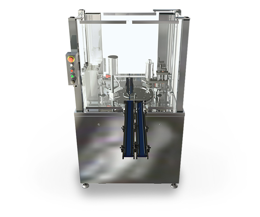 Semi-automatic filling machine for nail polish