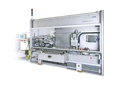 High capacity horizontal cartoner for pharmaceutical and cosmetic appliances