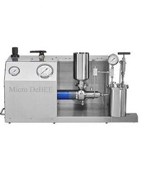 High pressure air powered laboratory homogenizer
