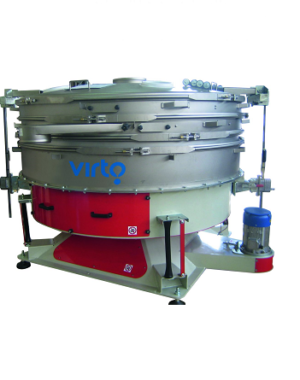 Tumbler sieve for classifying and dedusting granular materials