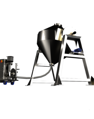 Mobile air knife dryer for tanks