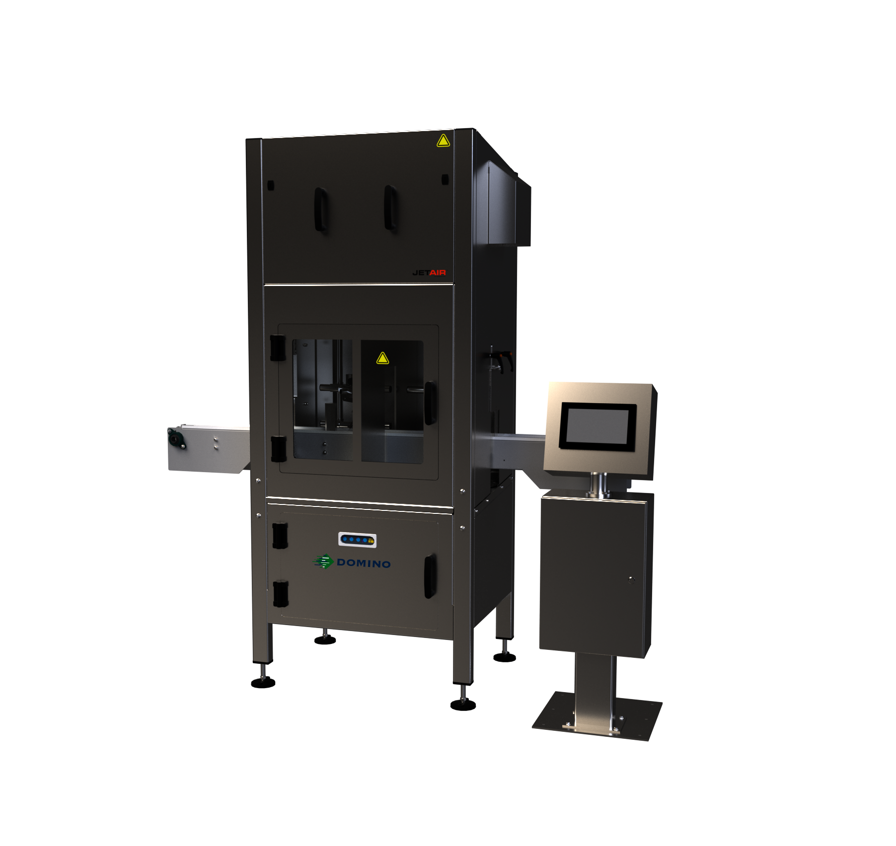 Code printer for cans with integrated drying system