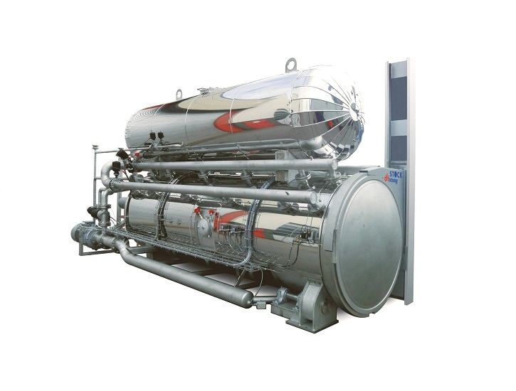 Flexible pasteurizer for packaged food
