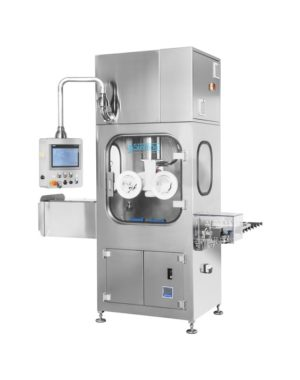 Aseptic automatic vial washing machine