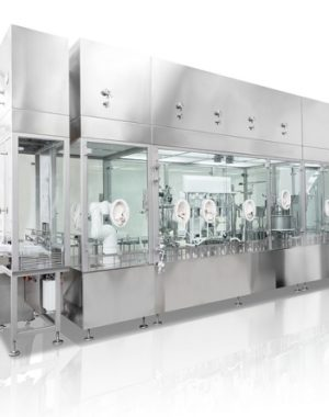 Nested syringe filling machine