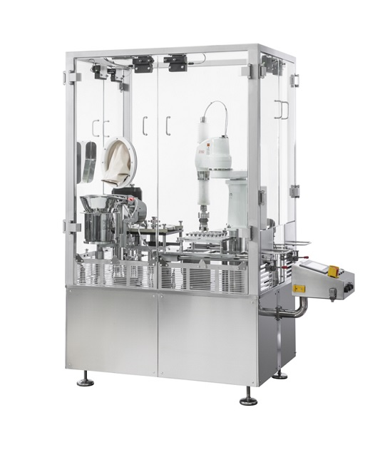 Aseptic vial cap sealing machine
