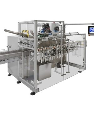 Horizontal cartoner for pharmaceutical applications