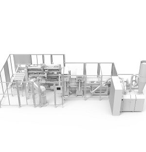 Automatic packaging machine for chocolate figures