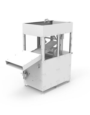 Small scale packaging machine for chocolate figures