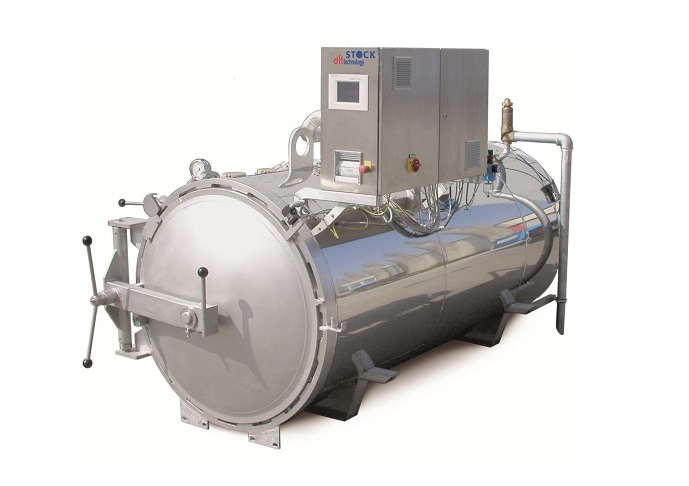 Steam sterilizer for food pouches