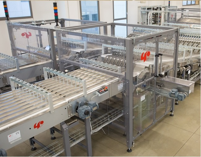 Automatic handling line for cookies