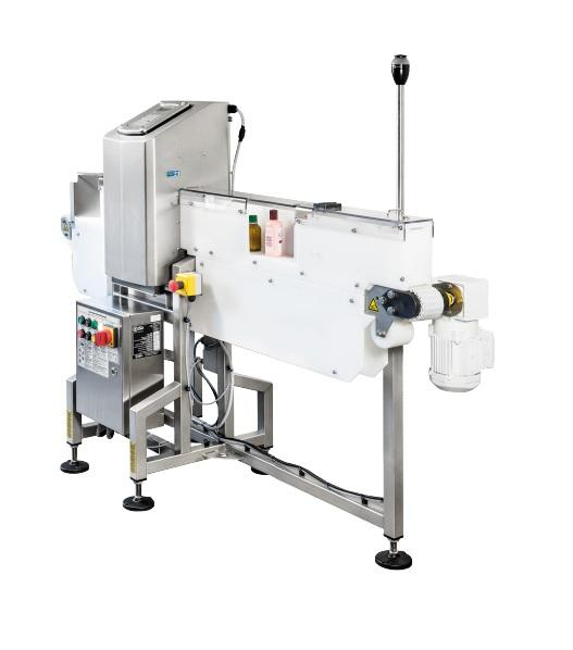 Metal detector for bottles