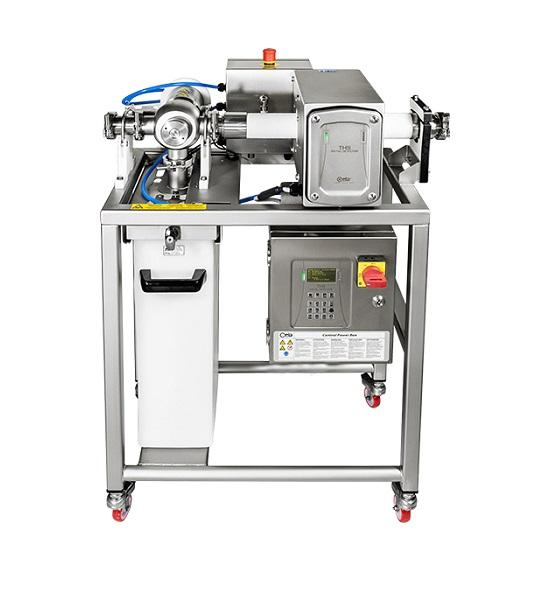 Pipeline metal detector for sauces