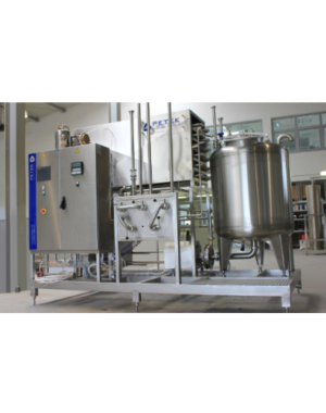 Flash pasteurizer for beer