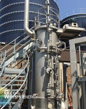 Biogas heating system