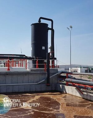 H2S scrubber for biogas