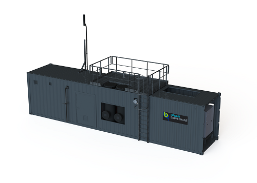 Small-scale biogas upgrading system