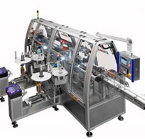 Labeling machine for BFS containers