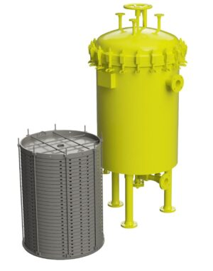 Industrial liquid filtration system