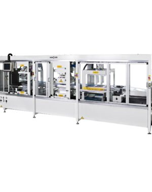 Thermoforming vacuum and pressure machine for tray production